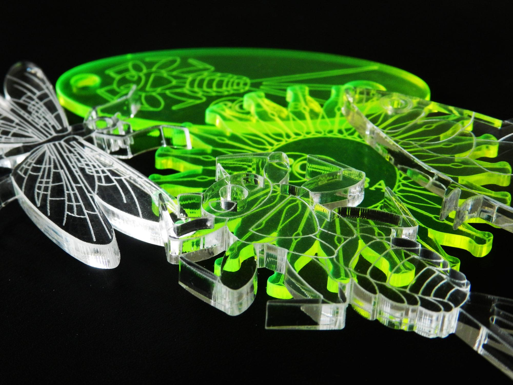 portachiavi in plexiglass taglio laser